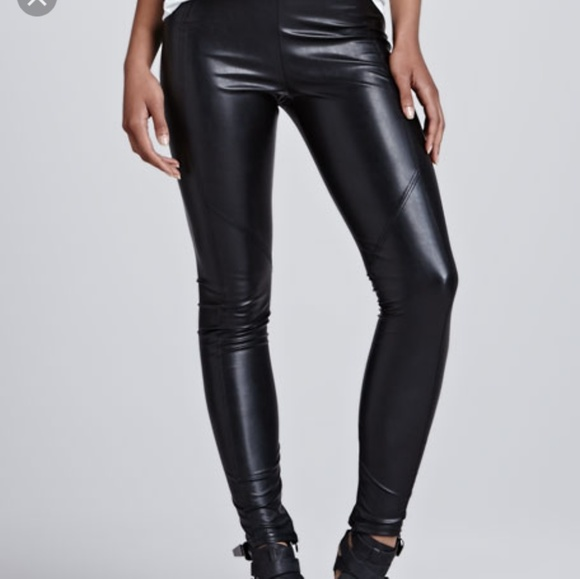82a941e35764a David Lerner Pants | Seamed Vegan Leather Legging | Poshmark